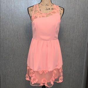 Altar'd State Lined Floral Lace Trim Dress Size M